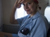 Madam J on the Plane