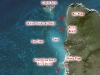 Snorkeling Map of Bell Point, Saint Martin
