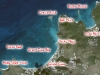 Snorkeling Map of Grand Case Bay, Saint Martin